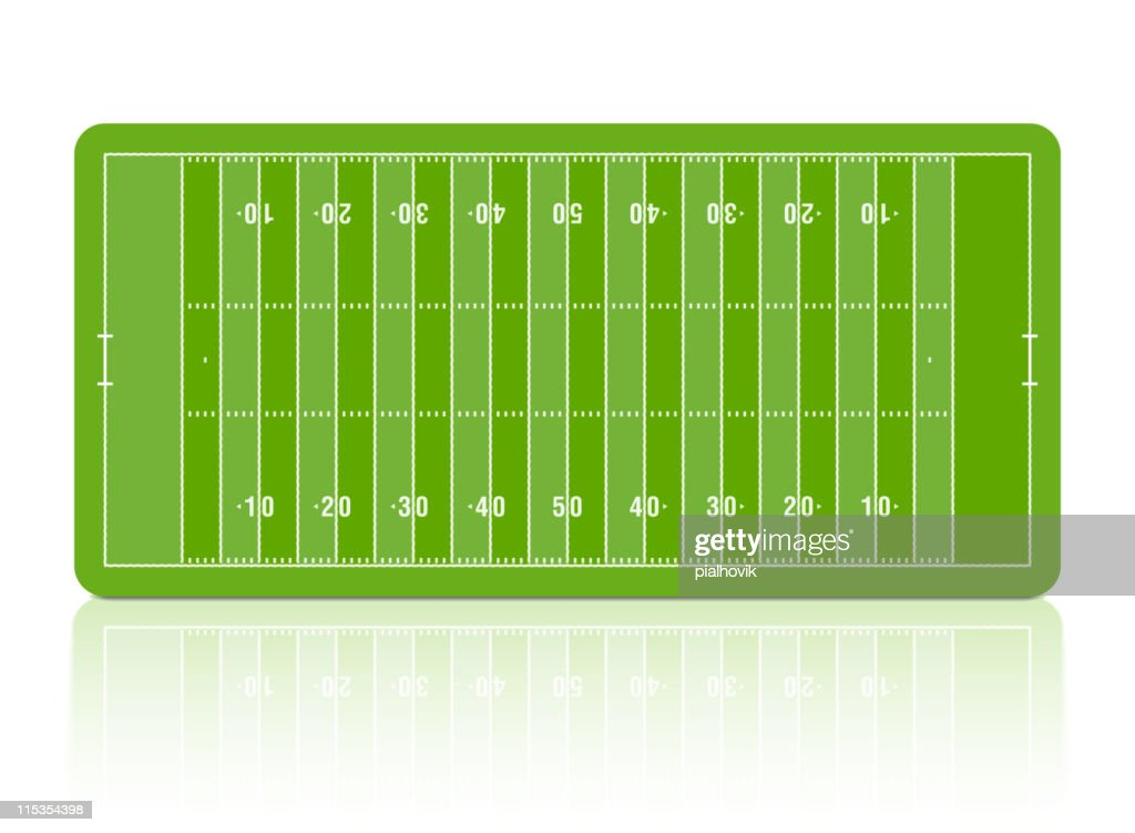 Green diagram of football pitch