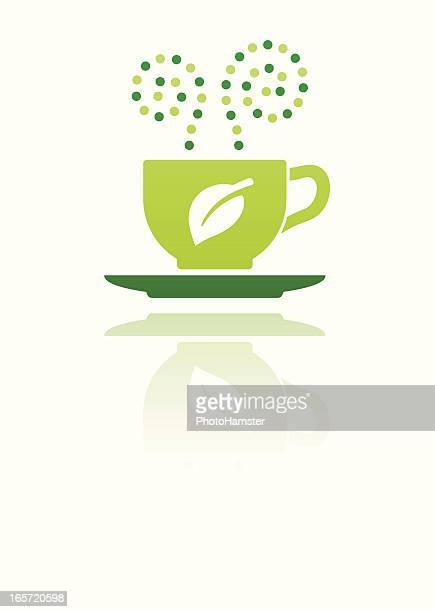green drink on white - green tea stock illustrations, clip art, cartoons, & icons