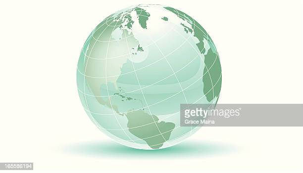 Green earth with grids - VECTOR