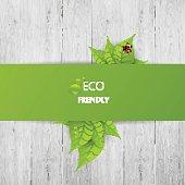 Green eco abstract design, Vector