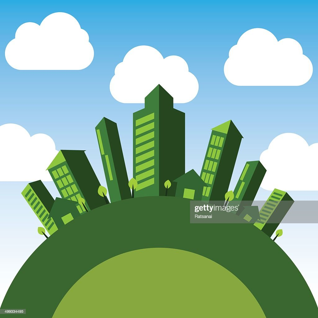 Ecoconcept green eco concept vector art | getty images