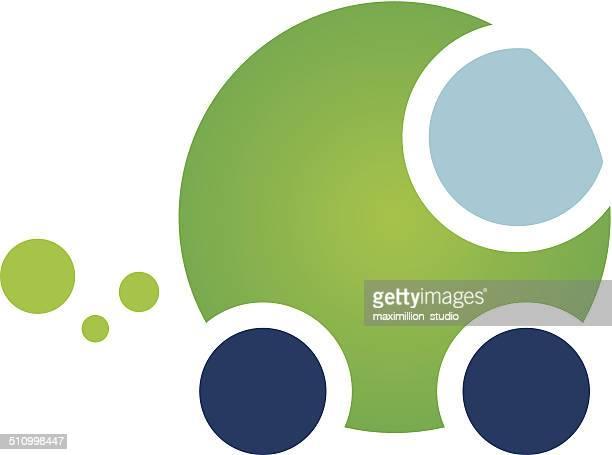 Eficiência de energia de eco verde natural ícone do logotipo de energia