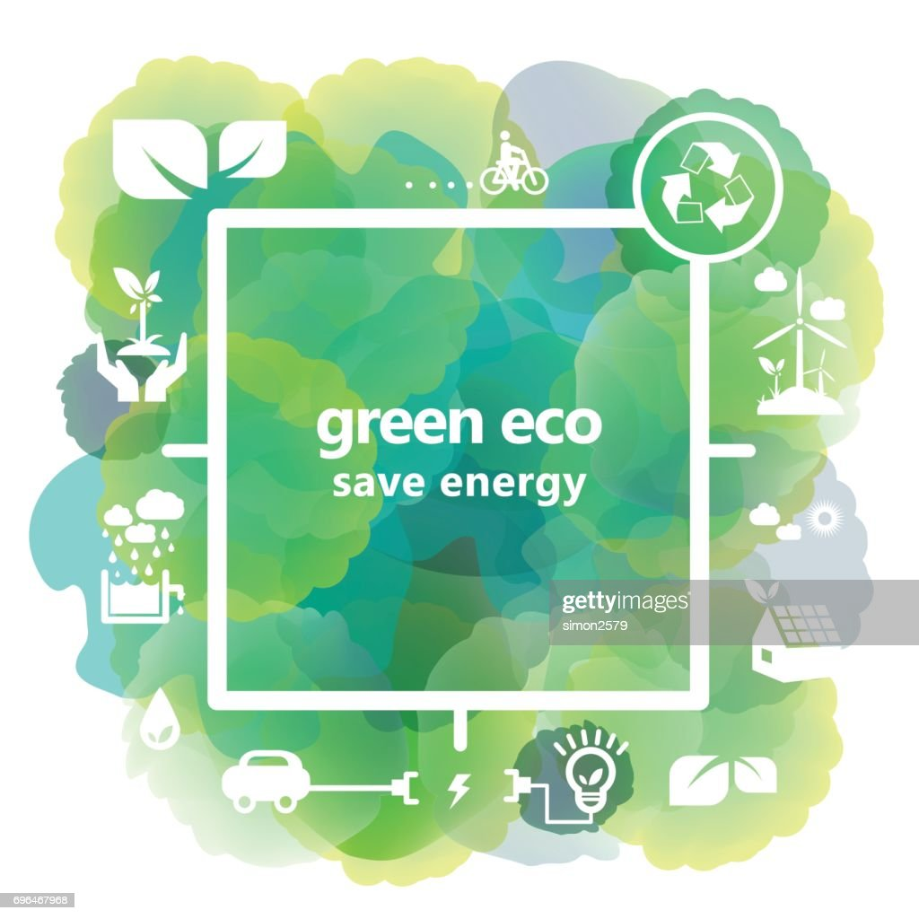 Green Energy and recycle concept illustrations