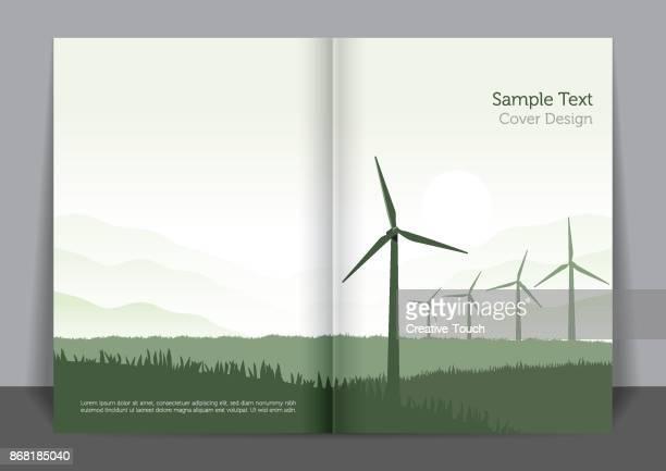 green energy cover design - razor blade stock illustrations, clip art, cartoons, & icons