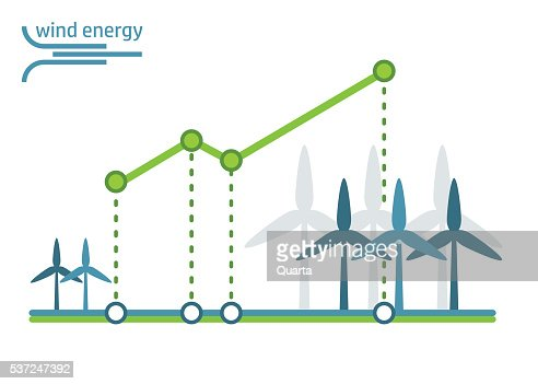 Green Energy Diagram Wind Turbines Vector Art Getty Images