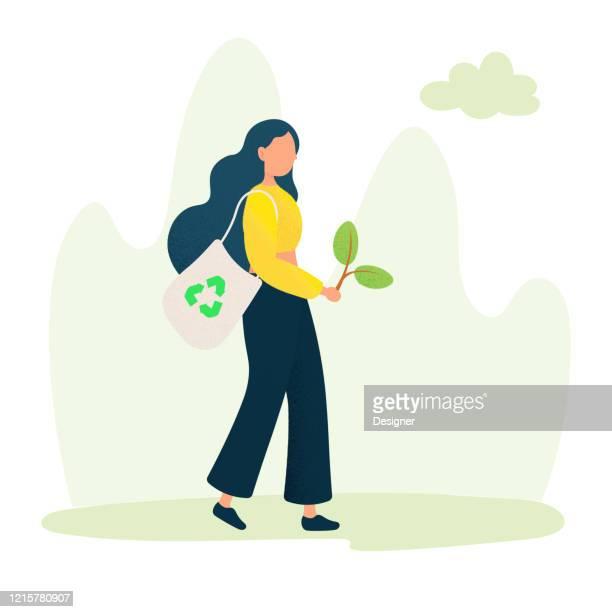 grüne energie, ökologie konzept design vektor illustration. - recyclingsymbol stock-grafiken, -clipart, -cartoons und -symbole