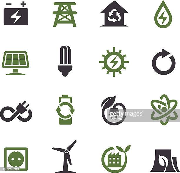 Green Energy Icons - Acme Series