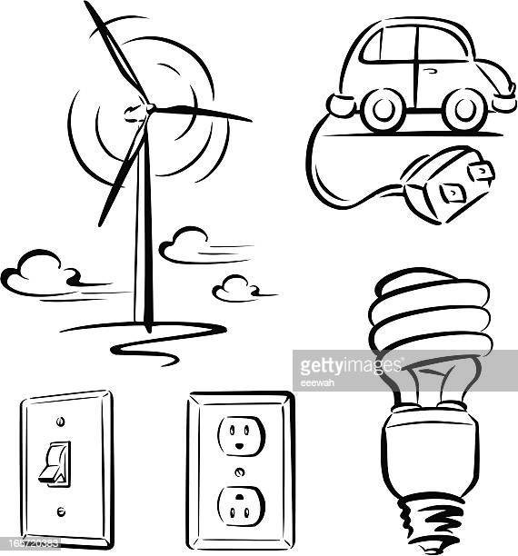 green energy - switch stock illustrations, clip art, cartoons, & icons