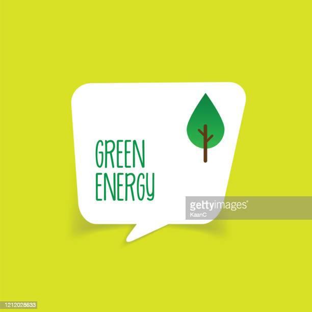 ilustrações de stock, clip art, desenhos animados e ícones de green energy vector stock illustration - orgânico