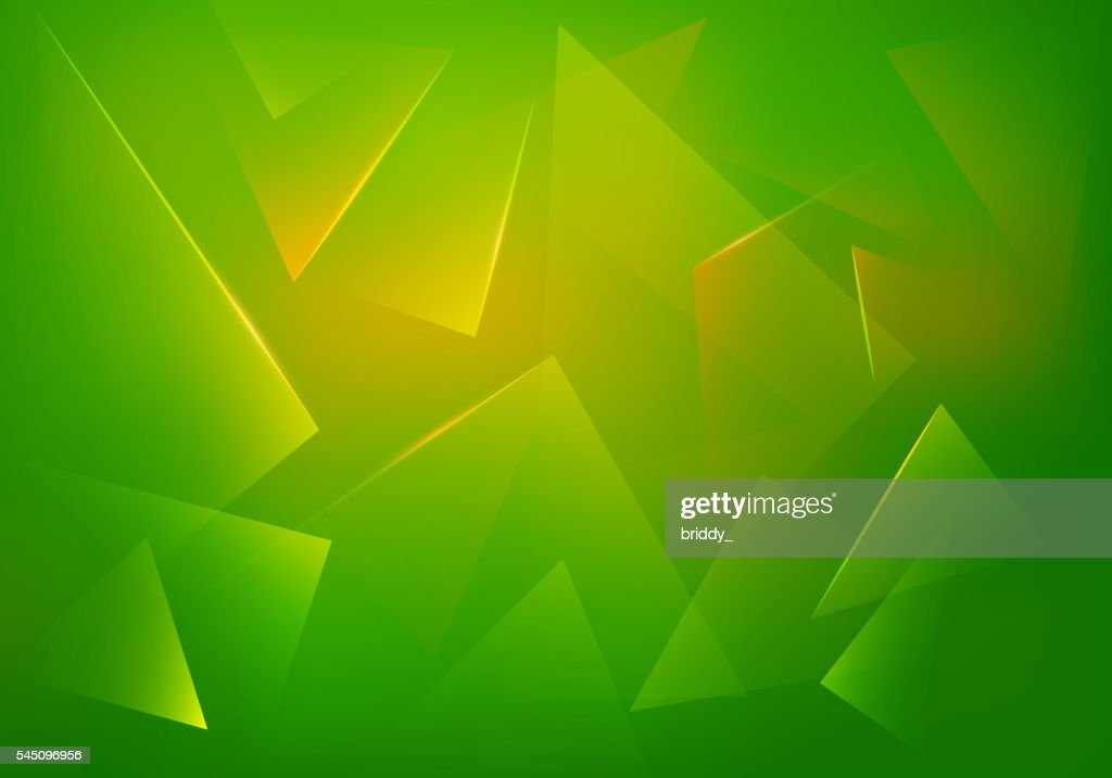 Green Explosion Illustration. Vector Abstract Background.