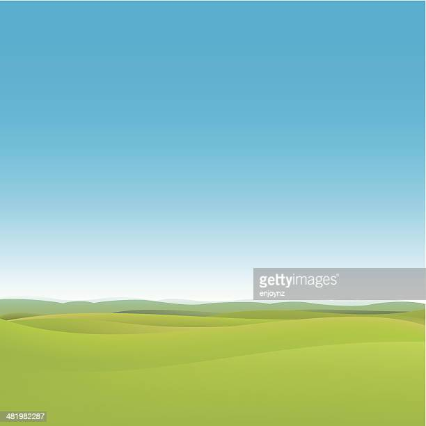 green fields background - rolling landscape stock illustrations