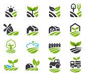 Green fields icon.