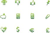 Green Financial Icons | Verde Series