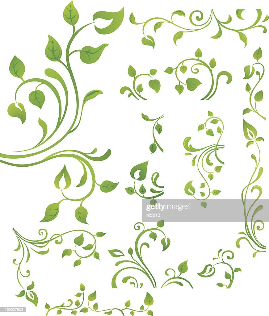 Green floral element