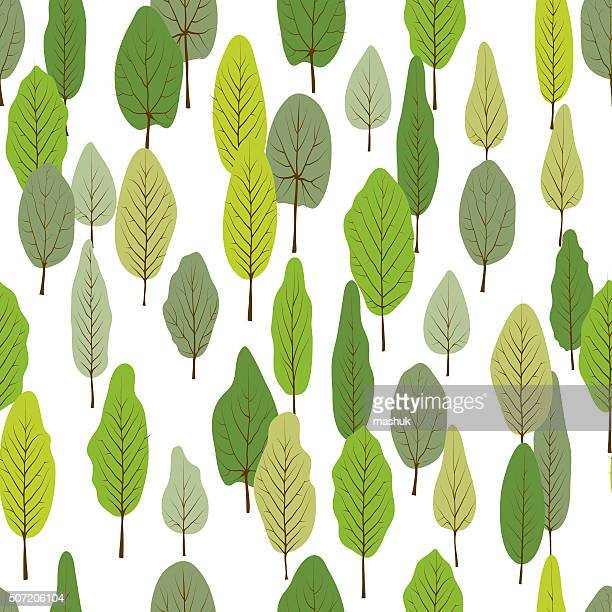 Green forest  seamless pattern