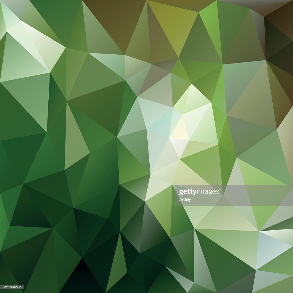 green forest triangular background