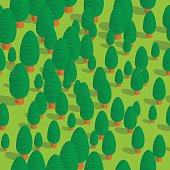 green forest (seamless pattern)