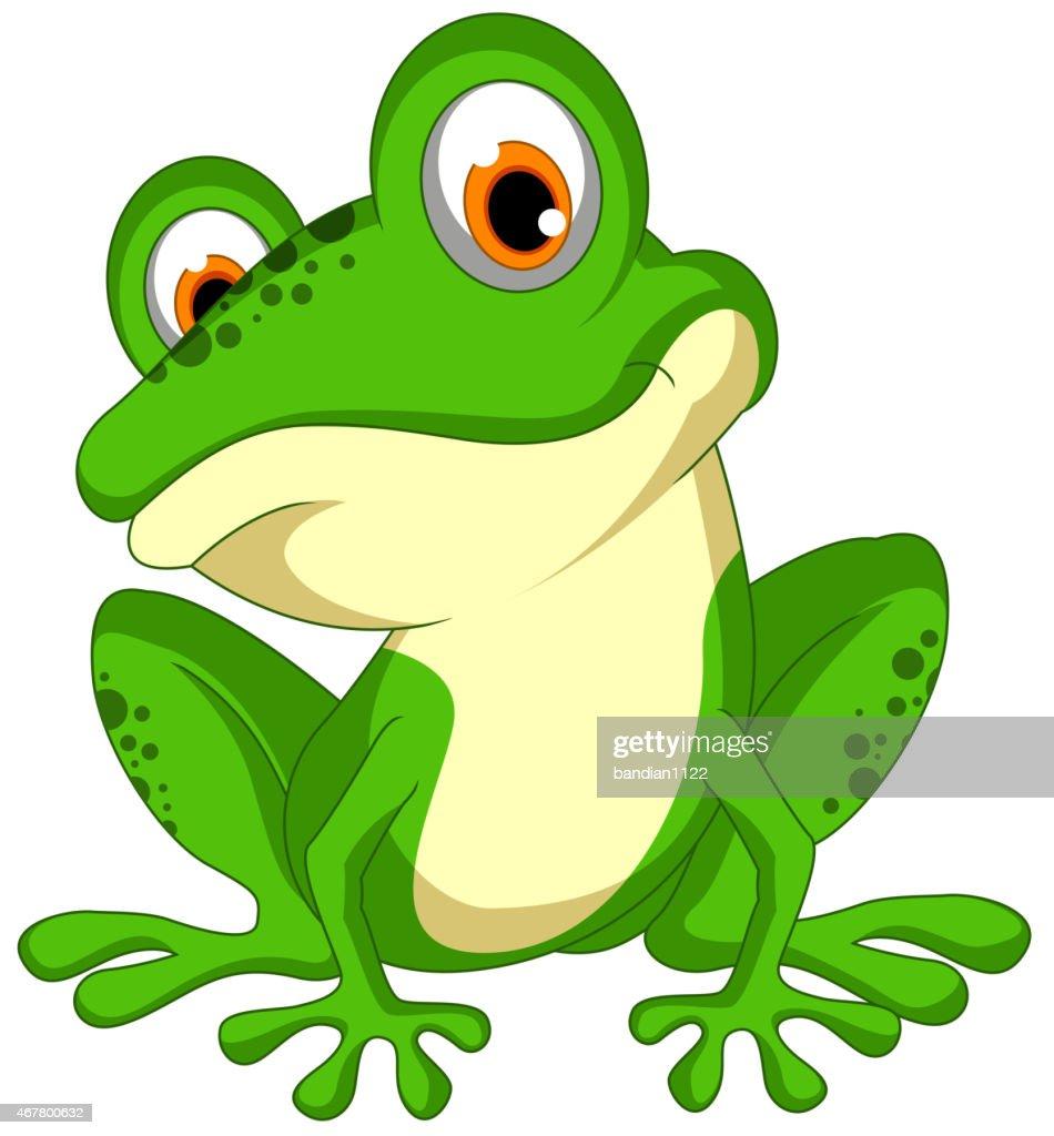 Green frog sitting