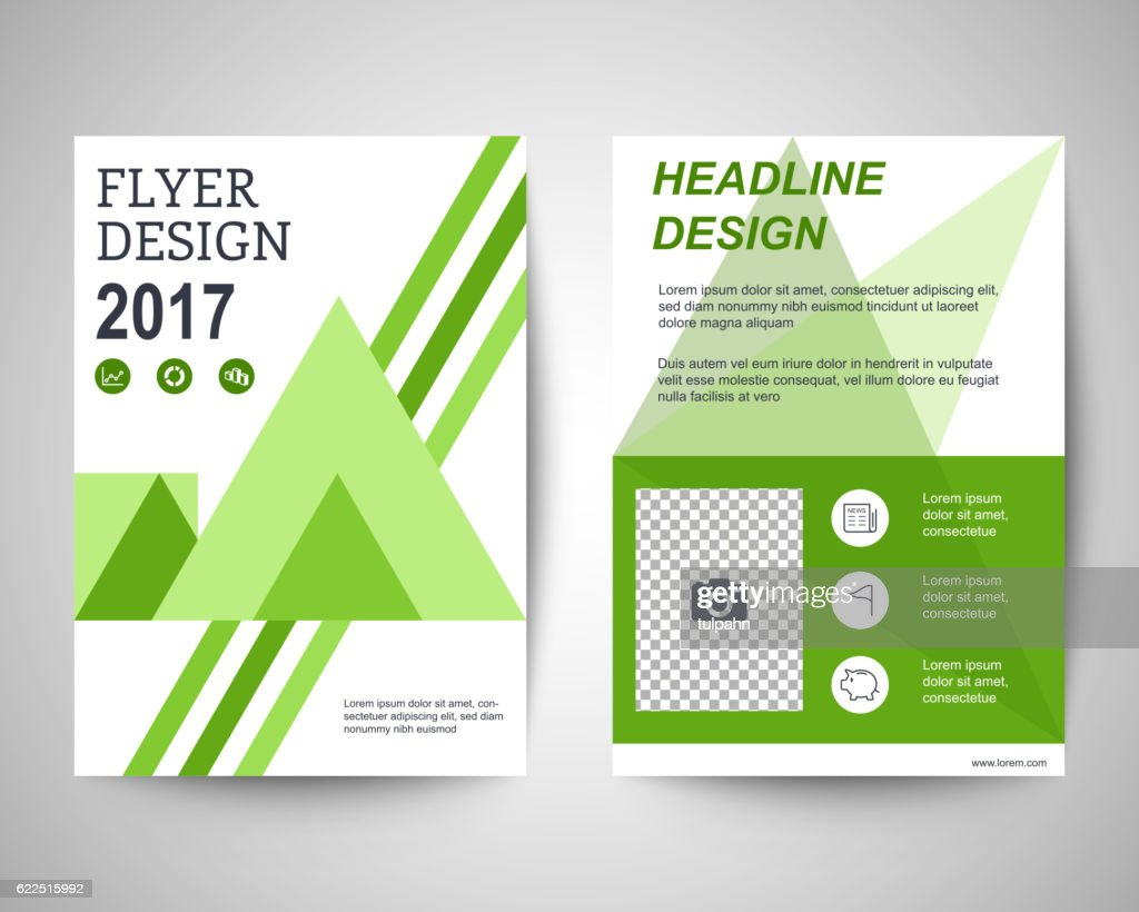 green geometric abstract shapes flyer a4 template vector art getty