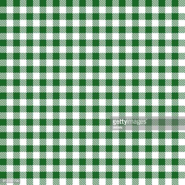 グリーン ギンガム布生地パターン - ギンガムチェック点のイラスト素材/クリップアート素材/マンガ素材/アイコン素材