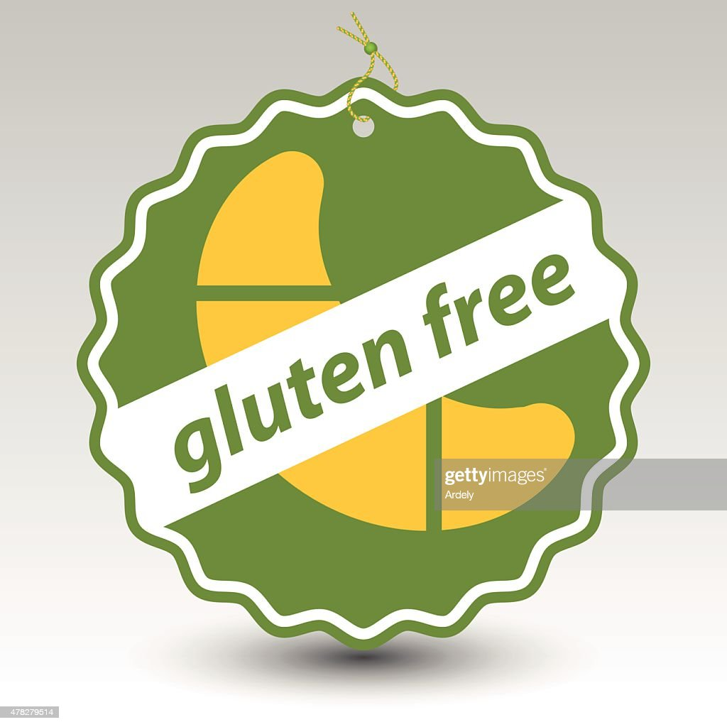 green gluten free roll pastry stamp tag label