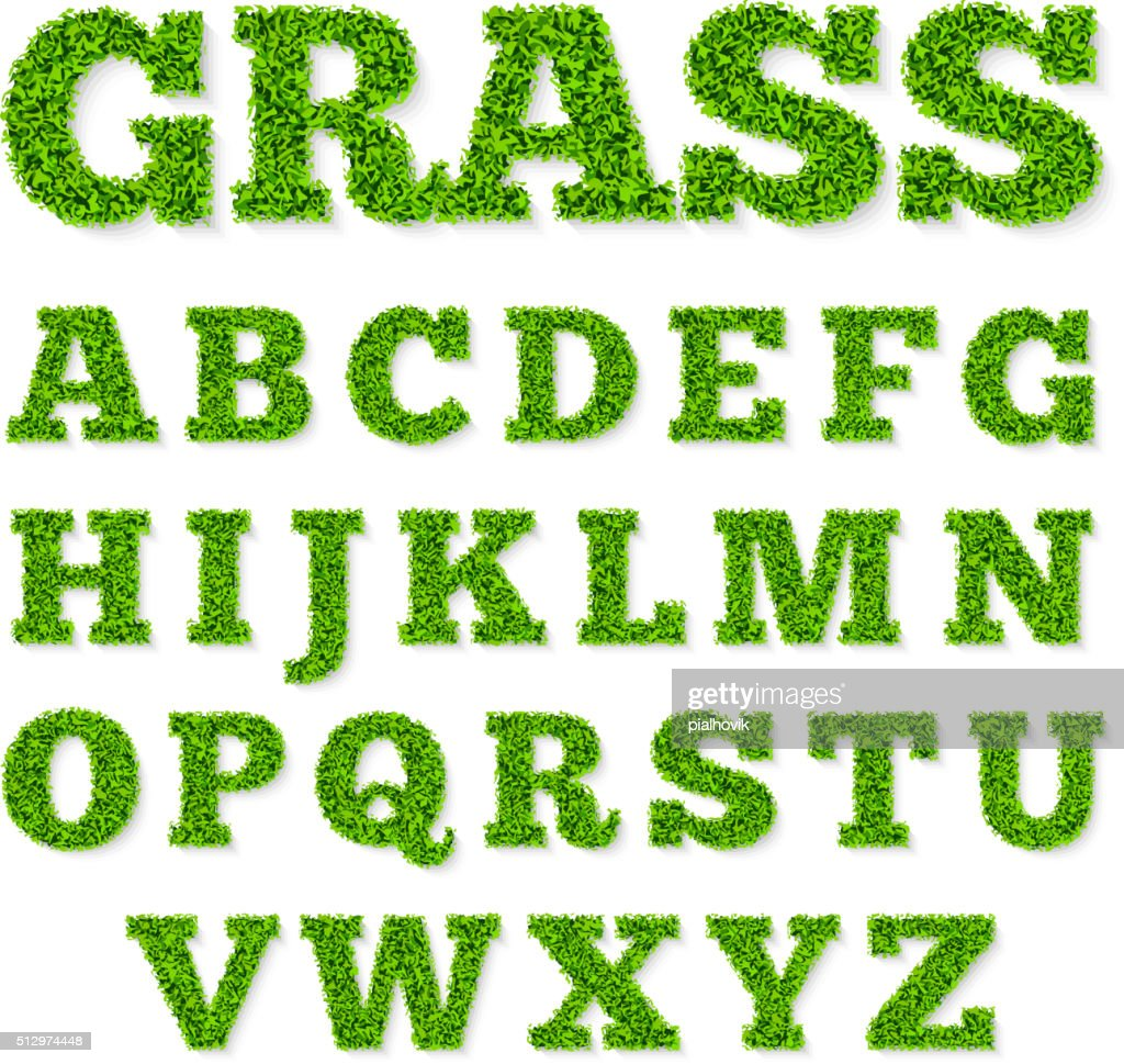 Green grass alphabet
