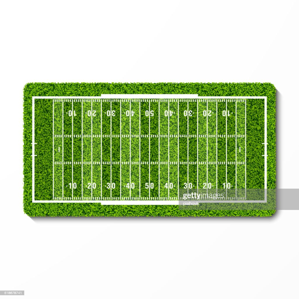 Green grass football field