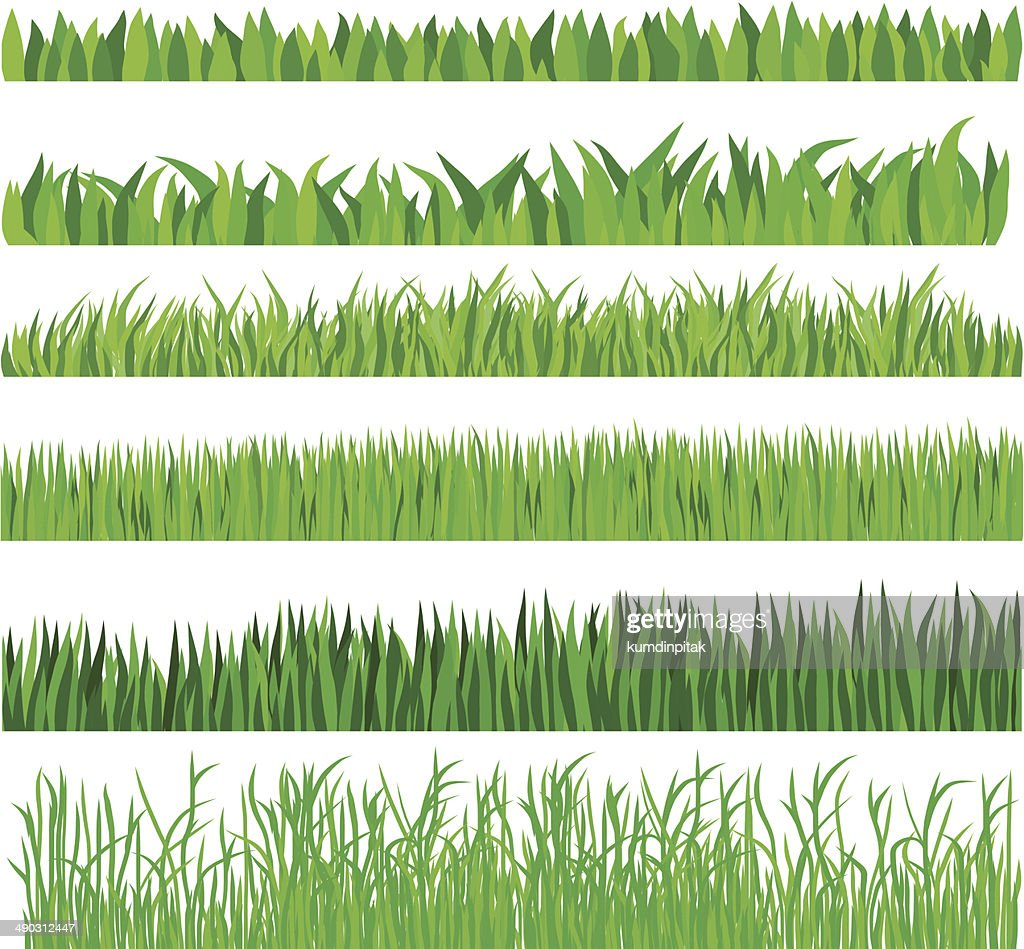 Green Grass Set,Hand drawn,