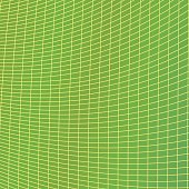 Green grid background - vector illustration from curved angular lines