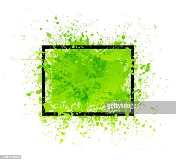grüner grunge-rahmen - streetart stock-grafiken, -clipart, -cartoons und -symbole