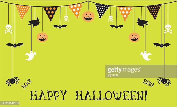 Green Happy Halloween Invite