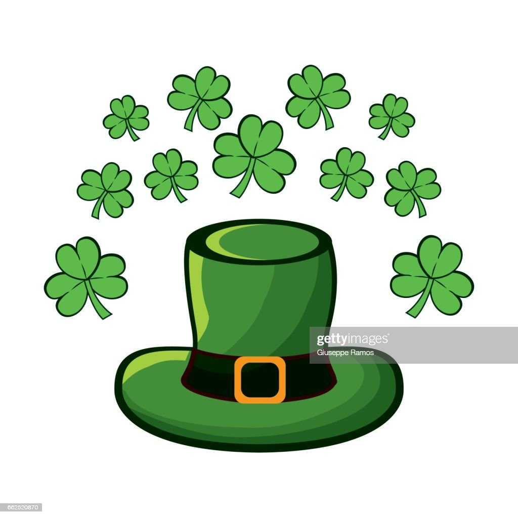 green hat accessory st patrick with clovers