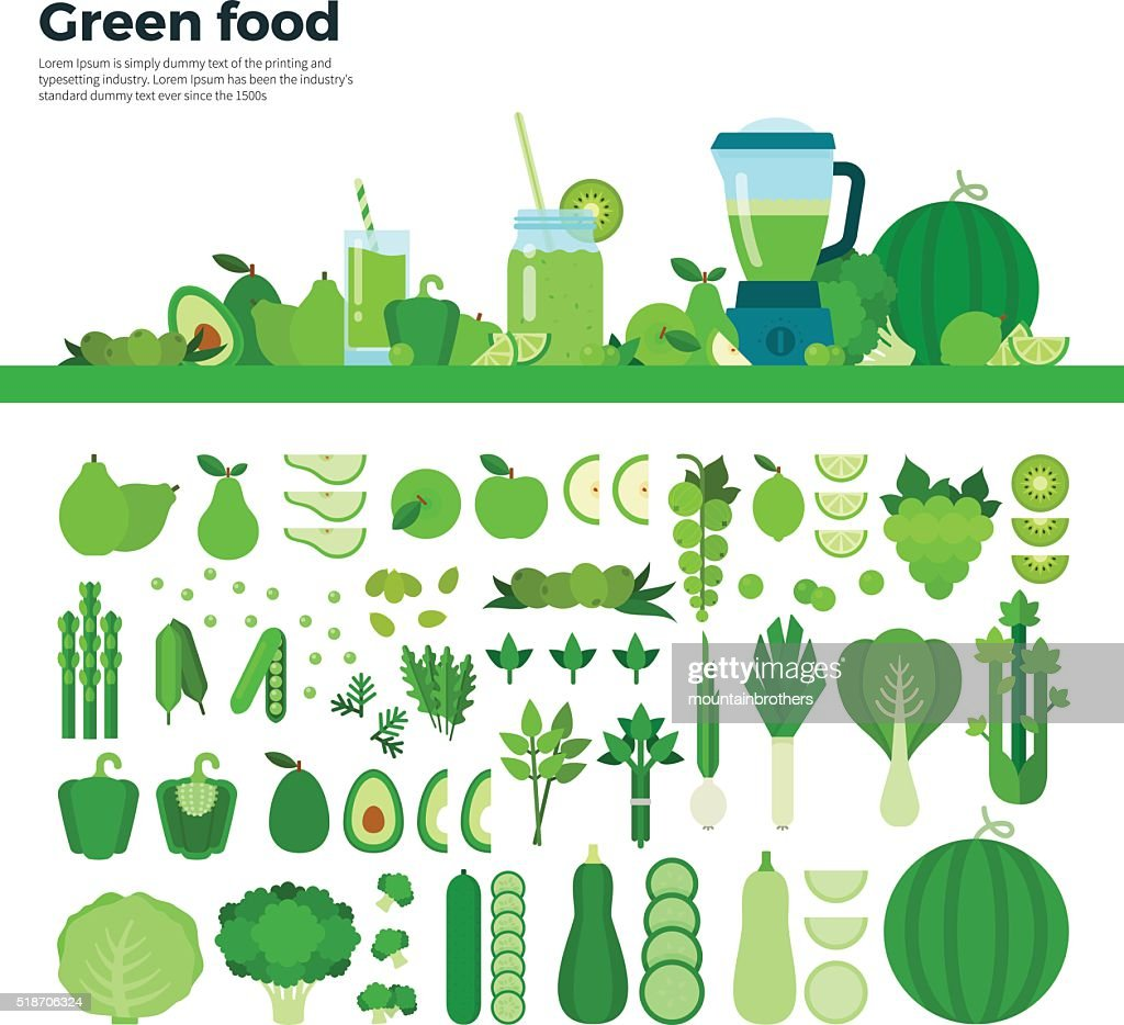 Green healthy food on the table