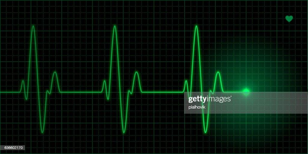 Green heart pulse
