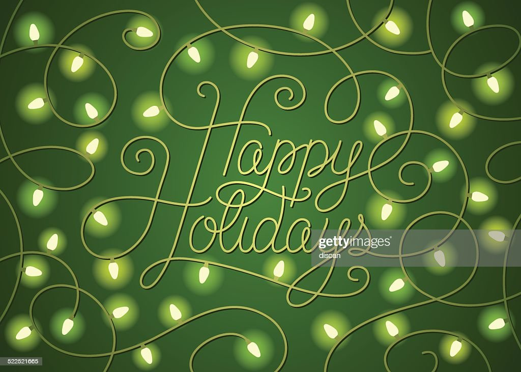 Green holiday lights