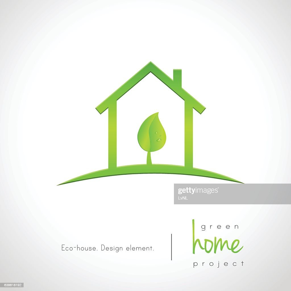Miraculous Green Home Concept With House And Leaf Inside Stock Download Free Architecture Designs Scobabritishbridgeorg