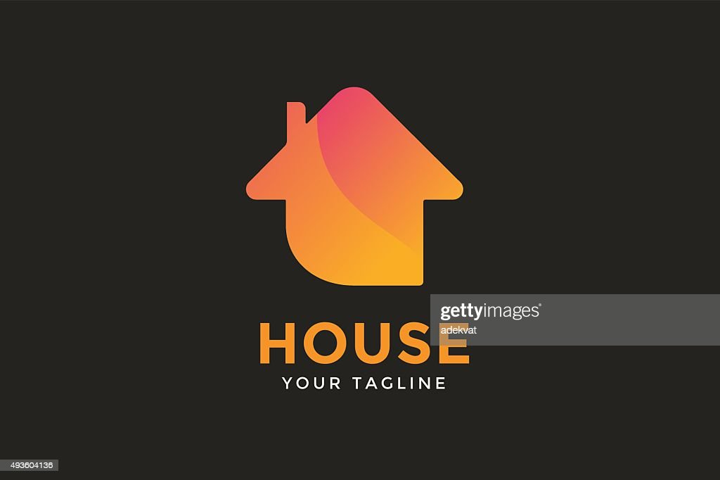 Green house home vector icon