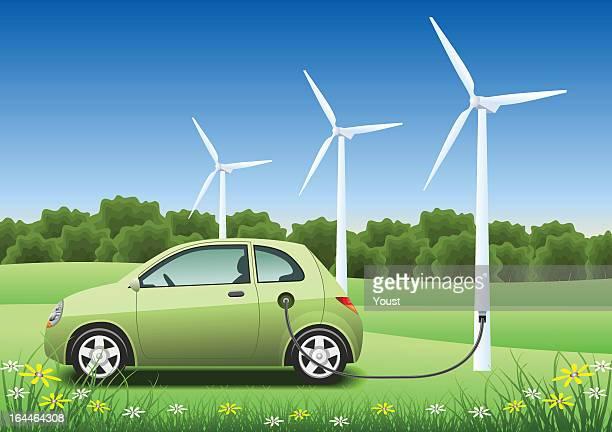 ilustraciones, imágenes clip art, dibujos animados e iconos de stock de cargador de coche híbrido - vehículo eléctrico