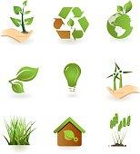 Green icon set.