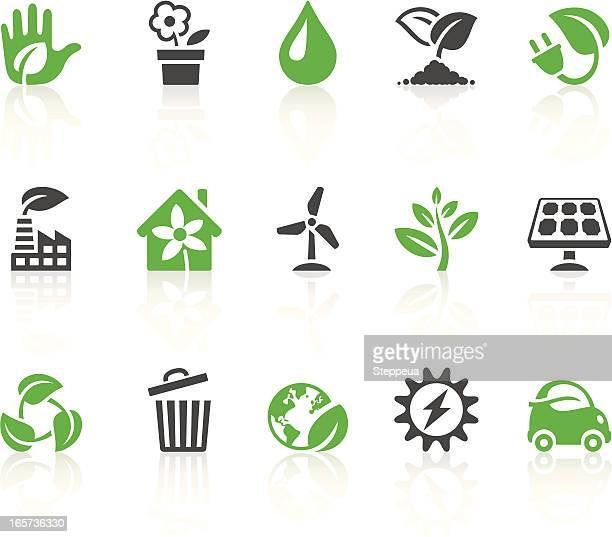 illustrations, cliparts, dessins animés et icônes de icônes vert - plante verte