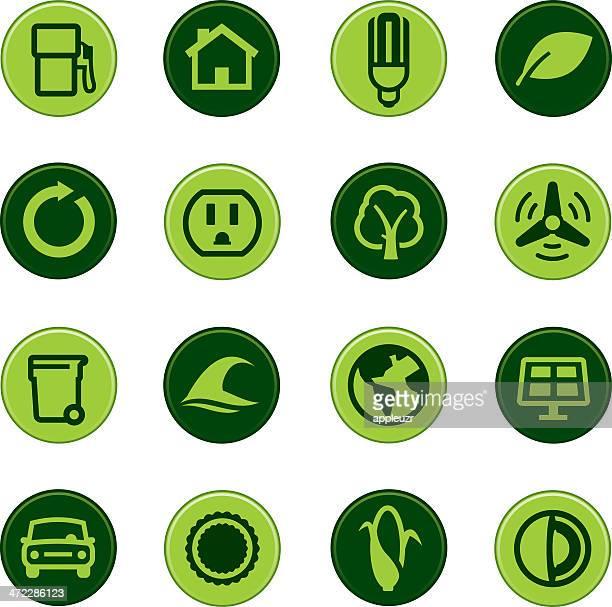 Iconos de verde