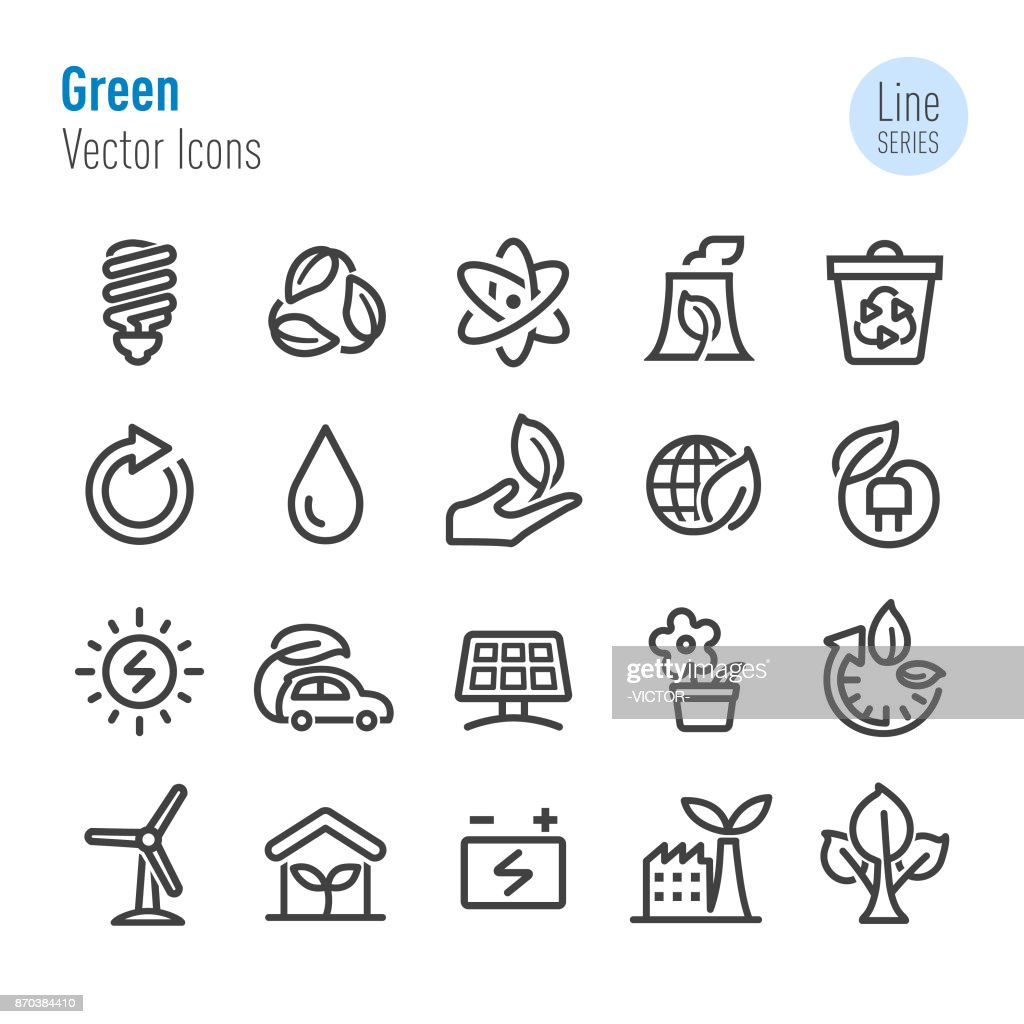 Green Icons - Vector Line Series