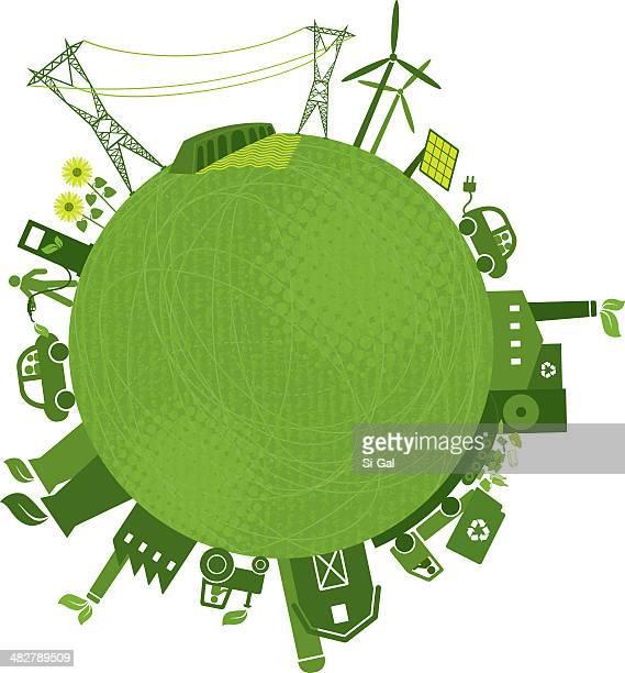 green industries (green-world series) - biodiesel stock illustrations, clip art, cartoons, & icons