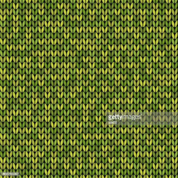 green knitted seamless background pattern - sweater stock illustrations, clip art, cartoons, & icons