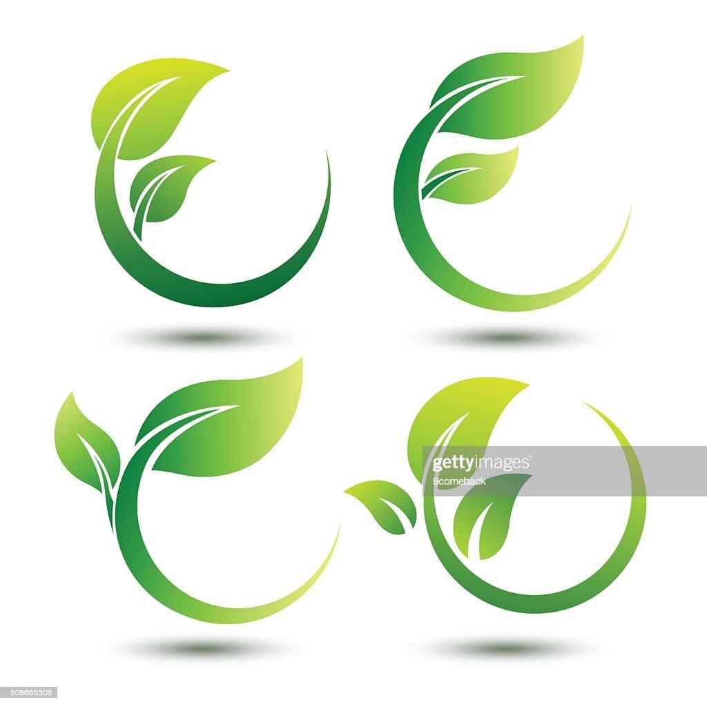 Green labels : Vector Art