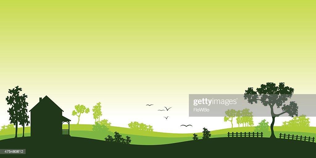 green landscape - silhouette