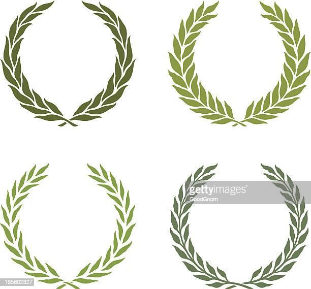 green laurel wreath