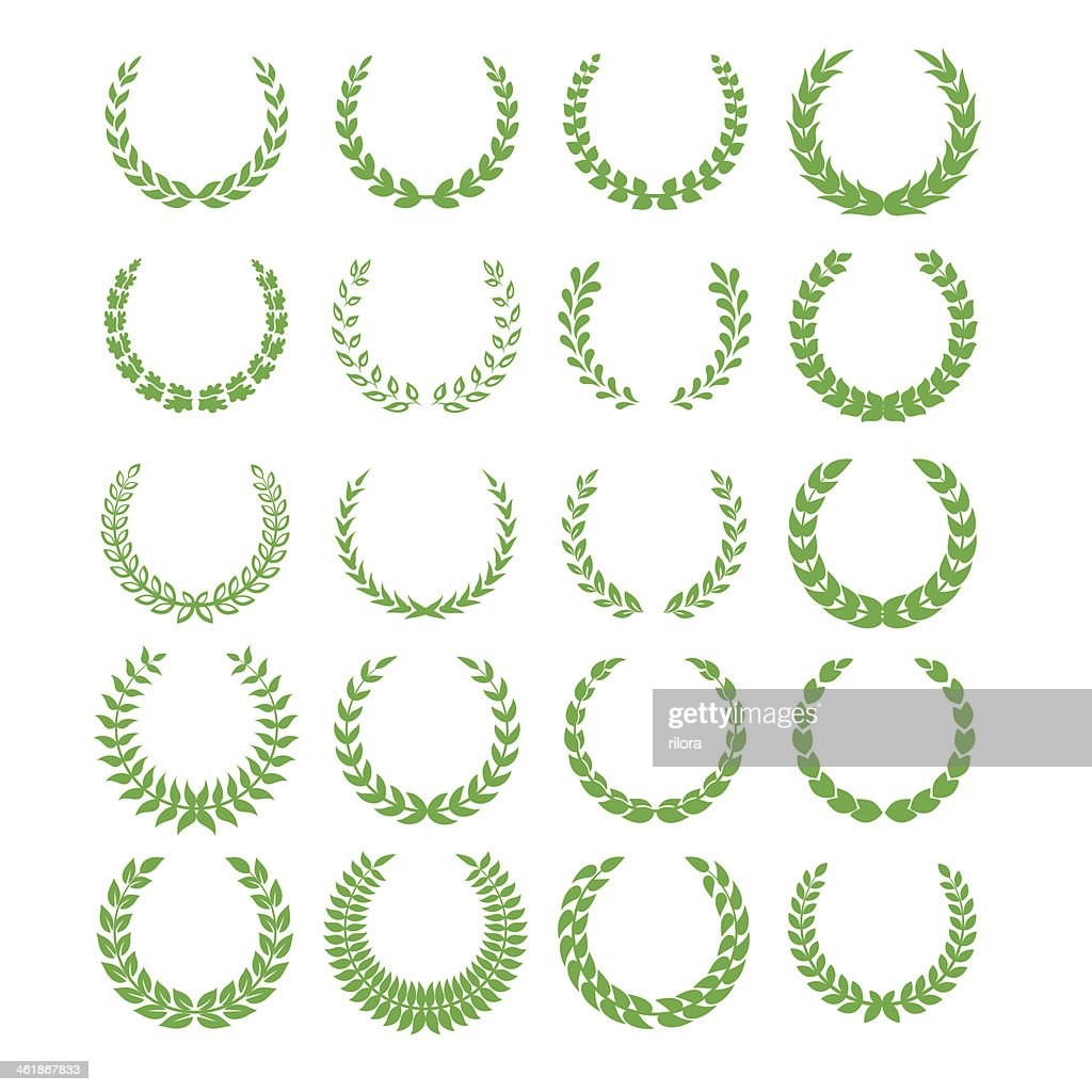 green laurel wreaths 1