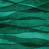 Green Layered Watercolor Background