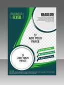 Green Layout business brochure. Layout flyer, template.  Stock Illustration